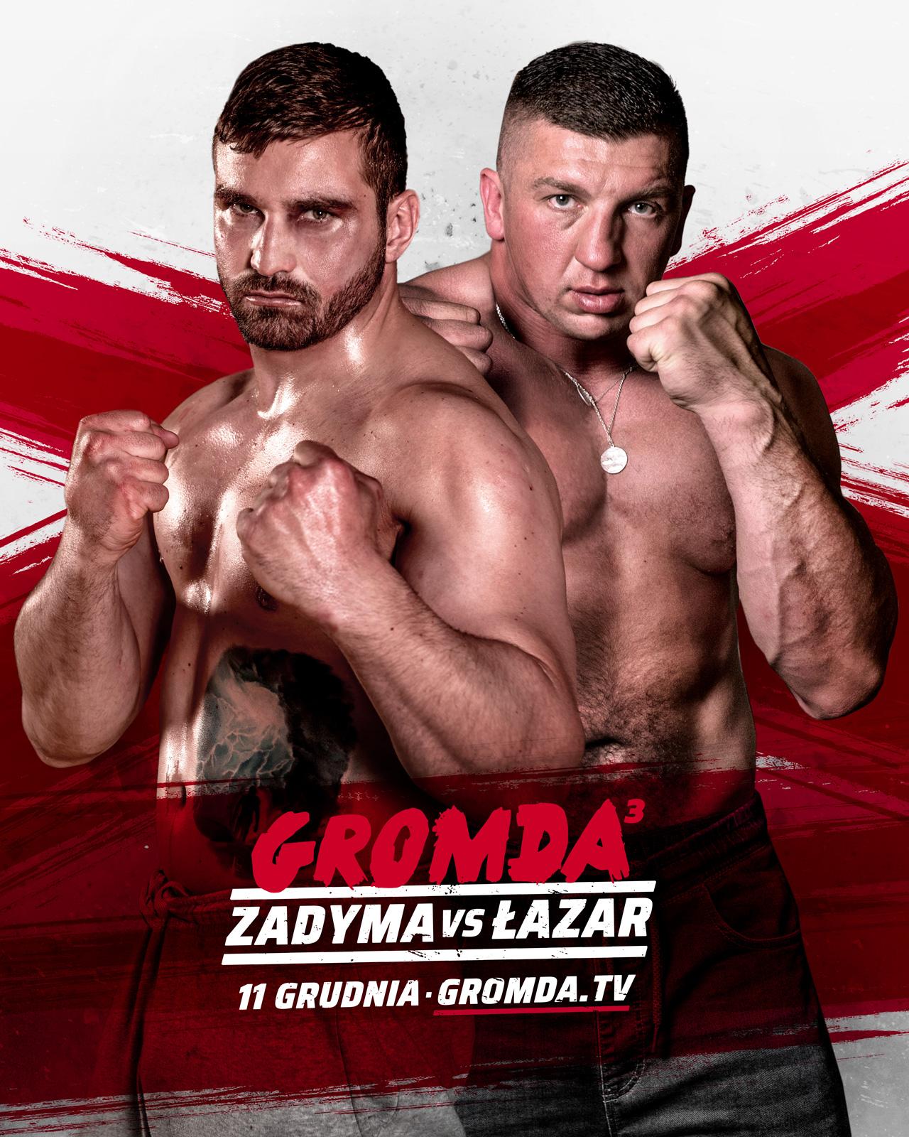 ŁAZARSKA ZADYMA na gali GROMDA 3! Najbrutalniesza i najbardziej krwawa walka na gołe pięści!