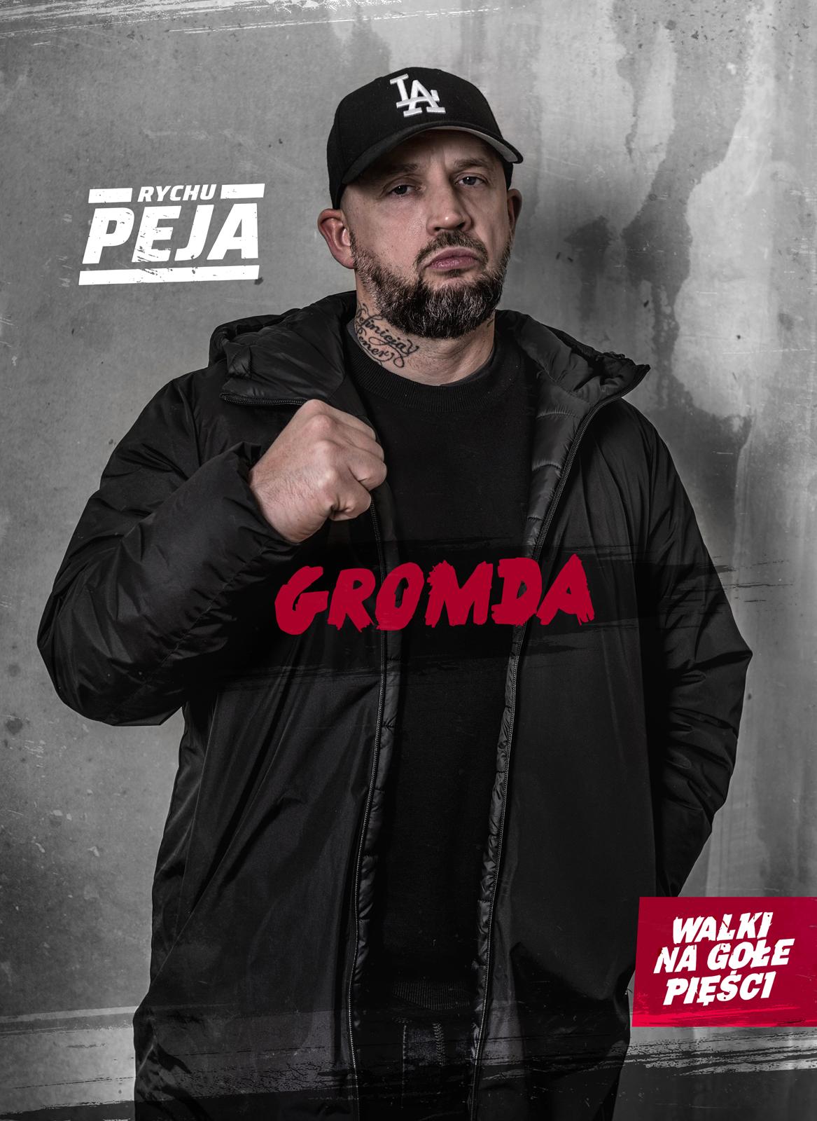 Peja Slums Attack legenda polskiego rapu w GROMDA: Walki na gołe pięści